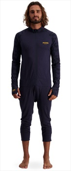 Mons Royale Supermons 3/4 Merino Wool Thermal One-Piece, L 9 Iron Camo