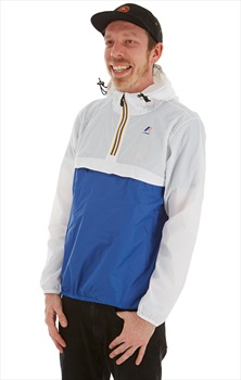 K-Way Le Vrai Leon 3.0 Anorak Pull-On Jacket M White/Blue Royal