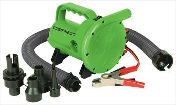 O'Brien High Pressure Delux Deflator/Inflator Pump 12V / 2.8psi Green