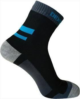 DexShell Running Waterproof Socks, UK 6-8 Black/Aqua Blue