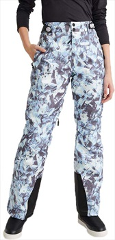 Superdry Luxe Snow Pant Women's Ski/Snowboard Pants, S Blue Ice 2020