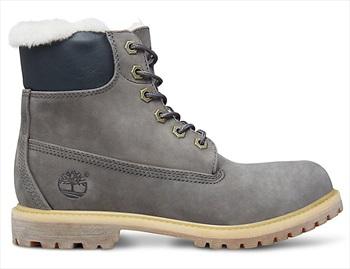 Timberland Womens 6-in Premium Shearling Winter Boots, UK 4 Dark Grey