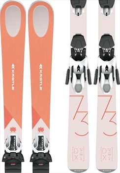 Kastle DX 73 W K10 SLR GW Women's Skis, 164cm Peach/Pink 2020