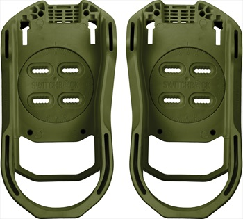 Switchback Base Snowboard Binding Baseplate, M (UK 6-9), Combat Green
