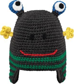 Barts Monster Kid's Ski/Snowboard Beanie Hat, One Size Dark Heather