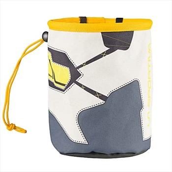 La Sportiva Solution Rock Climbing Chalk Bag, O/S Grey/white/yellow