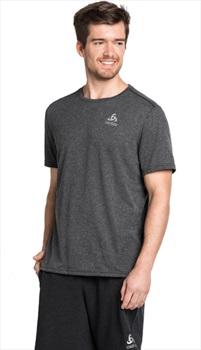Odlo Millennium Element Short Sleeve Running T-Shirt, M Black