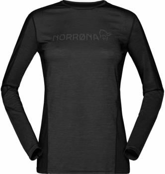 Norrona Womens Equaliser Merino Round Neck Women's Long Sleeve Top, L Caviar