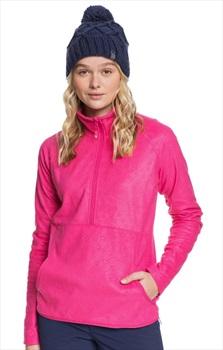 Roxy Cascade Women's Snowboard/Ski Fleece, M Beetroot Pink Rising Peak