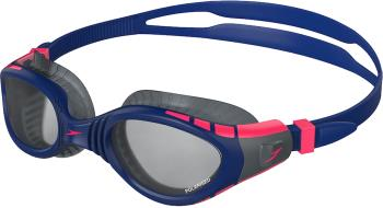 Speedo Futura Biofuse Flexiseal Triathlon Smoke Swim Goggles, Blue