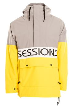 Sessions Chaos Pullover Ski/Snowboard Jacket, XL Grey