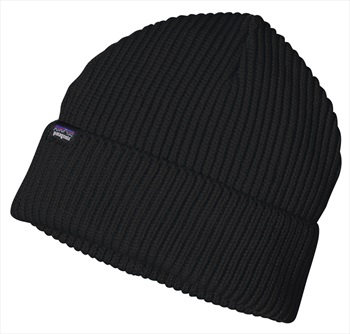 Patagonia Fisherman's Rolled Beanie Cuffed Beanie Hat OS Black