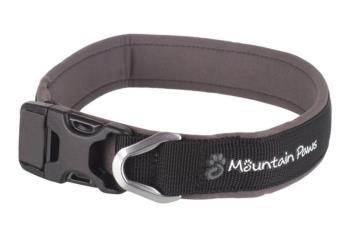 Mountain Paws Dog Collar Padded Pet Collar, Small Black