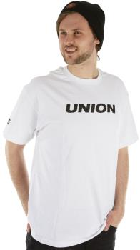 Union Snowboard Binding Co. Short Sleeve Tee Shirt, S White