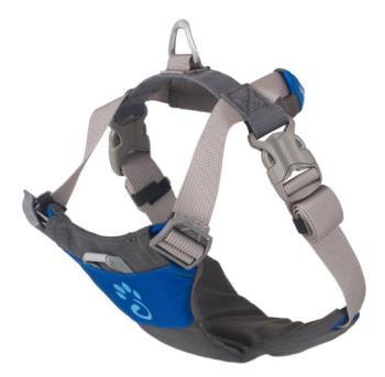 Mountain Paws Dog Harness Adjustable Pet Harness, Medium Blue