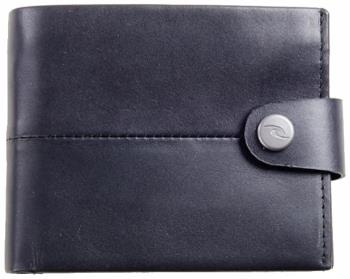 Ripcurl Snap Clip RFID 2-in-1 Leather Wallet, One Size Black