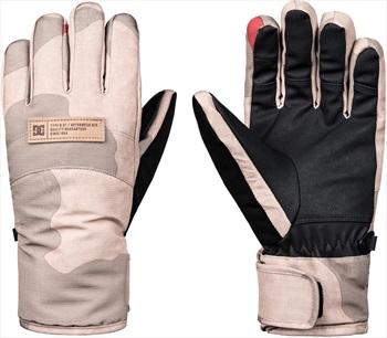 DC Franchise Women's Ski/Snowboard Gloves, L Hot Sauce DCU Camo