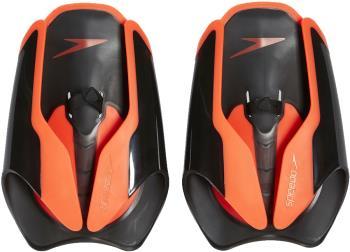 Speedo Fastskin Hand Paddle Swimming Training Aid, Black/Red