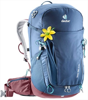 Deuter Trail Pro 30 SL Hiking Backpack, 30L Midnight/Maroon