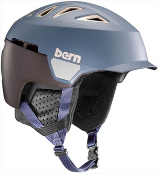 Bern Heist Brim Winter Snowboard Helmet, S Matte Denim