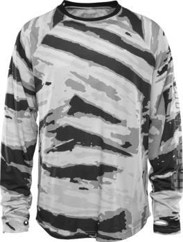 thirtytwo RideLite Long Sleeve Thermal Base Layer Top, M White/Camo