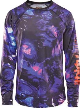 thirtytwo RideLite Long Sleeve Thermal Base Layer Top, S Black/Blue