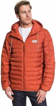 Quiksilver Scaly Hood Casual Padded Puffer Jacket, M Burnt Brick