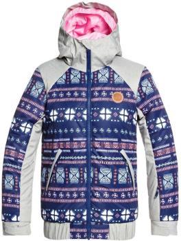 Roxy Lowland Girl's Snowboard/Ski Jacket, Ages 8-10 Imapala Stripes