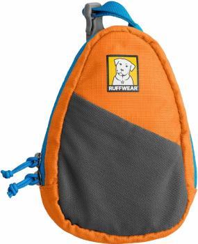 Ruffwear Stash Bag Dog Leash Poo Bag Dispenser Pouch, Orange Poppy