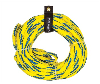 O'Brien Floating Towable Tube Rope, For 4 Rider Tubes Yellow Blue 2021