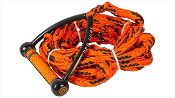 "O'Brien Pro Surf Wakesurf Rope and Handle, 9"" Handle 25' Rope Orange"