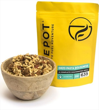 Firepot Orzo Pasta Bolognese Camping & Backpacking Food