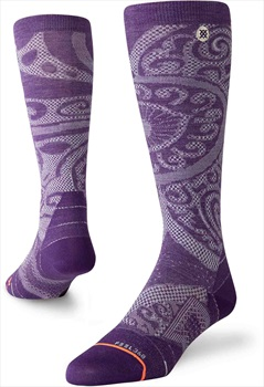 Stance Ultralight Merino Wool Womens Ski/Snowboard Socks, M Purple