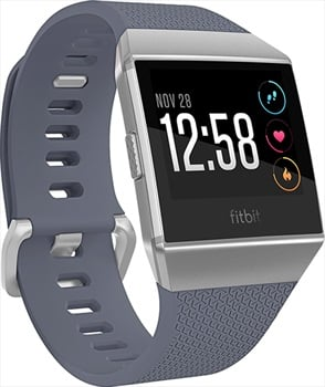FitBit Ionic Heart Rate & Fitness Smartwatch, Blue-Gray/White