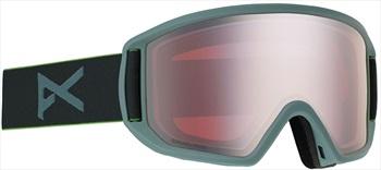 Anon Relapse MFI Sonar Silver Ski/Snowboard Goggles, M/L Grey
