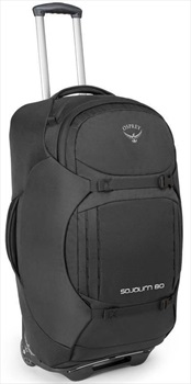 Osprey Sojourn 80 Suitcase With Backpack Straps, 80L Flash Black