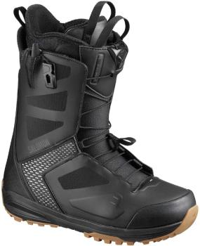 Salomon Dialogue Mens Snowboard Boots, UK 9 Black/Grey/Violet 2020