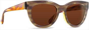 Von Zipper Queenie Gold Chrome Lens Sunglasses, Frosted Tortoise Gloss