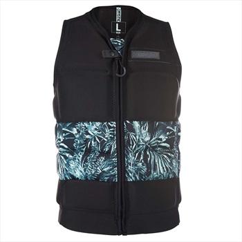 Mystic Shred Front Zip Wakeboard Impact Vest, XL Black