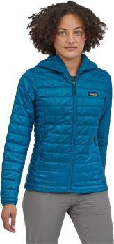 Patagonia Nano Puff Hoody Womens Insulated Jacket UK 14 Steller Blue