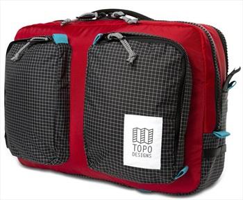 Topo Designs Global Briefcase Daypack/Rucksack, Red/Black Ripstop