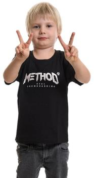 Method Child Unisex Classic Tee Kids Snowboarding T-Shirt, Age 5-6 Black
