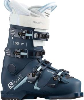 Salomon Womens S/Max 90 W Women's Ski Boots, 22/22.5 Blue/White 2021