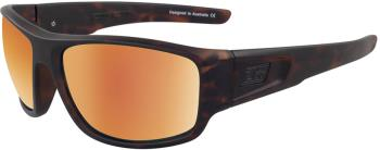 Dirty Dog Muffler Gold Mirror Polarized Sunglasses, L Satin Tortoise