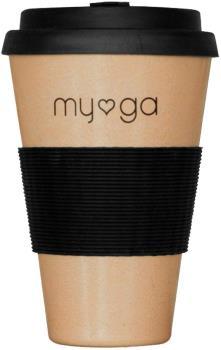 Myga Eco Bamboo Reusable Cup Travel Mug, 400ml