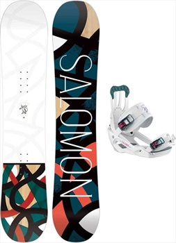 Salomon Lotus | Spell Snowboard Package, 135cm | Medium 2020