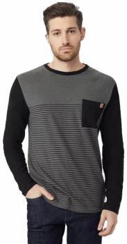 Tentree Gunnison Pocket Long Sleeve Top, S Gargoyle Grey/ Black