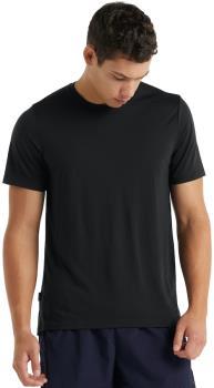 Icebreaker Cool-Lite Sphere Short Sleeve Merino Crew T-Shirt, S Black