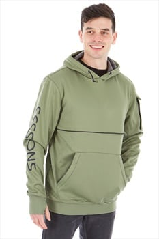Sessions Nighthawk Technical Pullover Hoodie, M Olive
