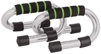 Phoenix Fitness Strengthening Push Up Bars, Black/Silver